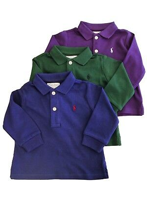 Genuine Ralph Lauren baby boys long sleeved polo  t shirt cotton top 6 - 9 mths