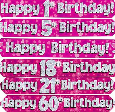 9ft 2 7m holographic happy 30th birthday foil party banner