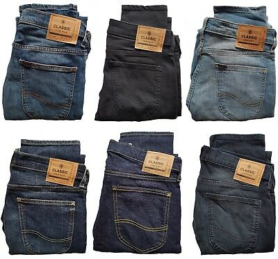 Mens Ex Store Skinny Slim Stretch Jeans Zip Fly 12 Colours Sizes 26-40