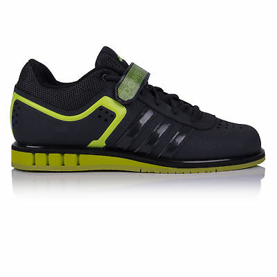 adidas Mens Powerlift 2.0 Weightlifting Shoes Black Green Gym Trainers