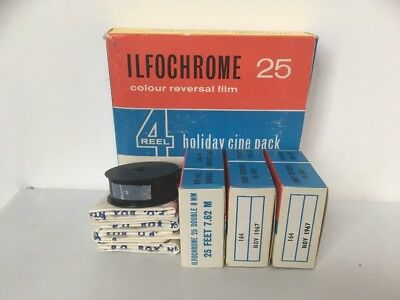 VTG ILFOCHROME 25 8mm CINE16mm Split 4 FILM HOLIDAY PACK BNIB LOMO RARE AS
