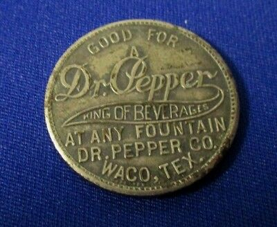 """Dr Pepper  King Of Beverages  """"george Washington""""  Token  """"very Rare"""""""