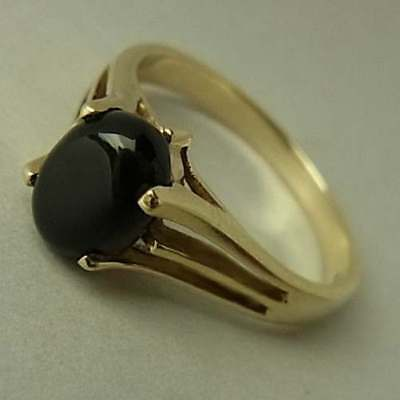 Vintage (1993) 9Ct Gold & Onyx Ring