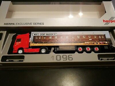 Herpa Exclusive Series Wirtz DAF XF105 SSC Event-Waggon