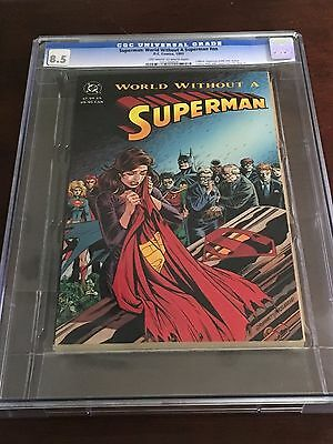 DC Comics Superman World Without A Superman CGC 8.5 White Pages 1993