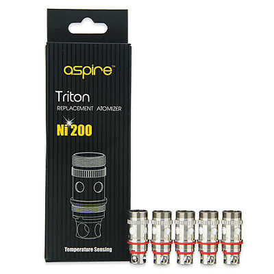 Aspire® Triton™ / Atlantis™ Coils | 5 PACK Ni200 TC | UK STOCK | 100% Authentic
