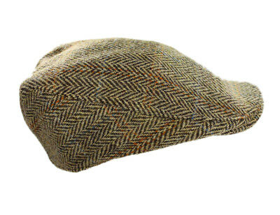 TOURING CAP TWEED Brown Herringbone Hanna Hats Ireland Small ... 58f3de41192