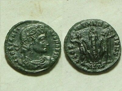 Constantine Rare ancient Roman coin Siscia/330AD Legion soldiers spears standard