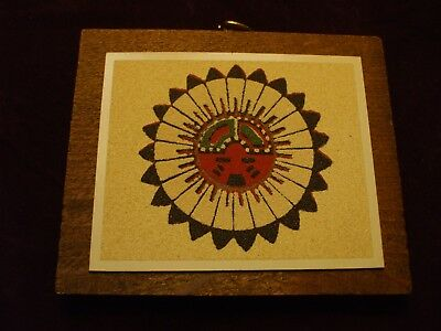 Native American Authentic Navajo Indian Sunface Sand Painting Framed