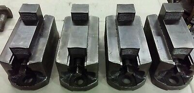 """Set Of 4 Cushman 6"""" Independent Chuck Jaws For Vbm Cnc Faceplate Planer Jaws"""