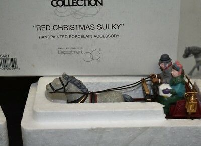 Dept 56 Dickens Village Series - Red Christmas Sulky 58401