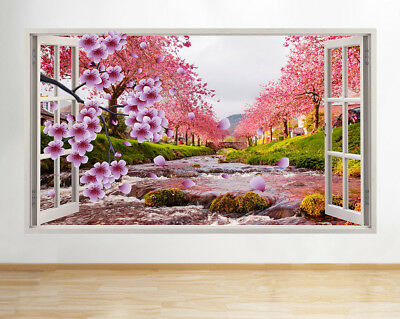 R994 Blossom Spring Nature Trees Window Wall Decal 3D Art Stickers Vinyl Room
