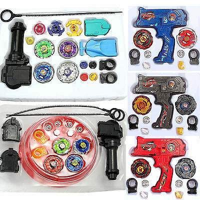 4D Beyblade Set Fusion Top Metal Masters Rapidity Fight Launcher Grip Kids Gift