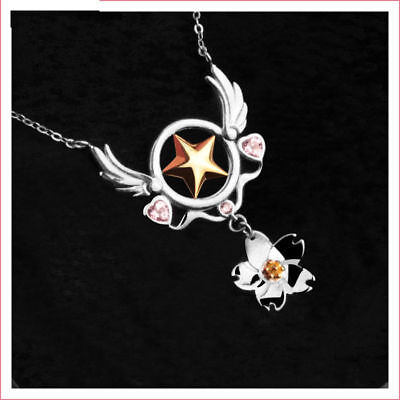 Anime Card Captor Sakura Kinomoto Necklace Cosplay Accessory Birthday Pendant