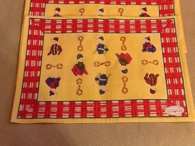 Pomegranate Lexington Kentucky Derby Day Triple Crown  Placemats Set Of 4! Nwt!