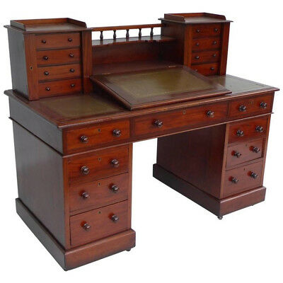 Dickens Mahogany Writing Desk. This was purchased at auction in London.