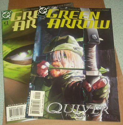 Green Arrow #1 #2 NM (2001) Quiver Part One & Two  Connor Hawke Appearance