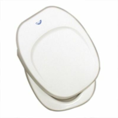THETFORD 36787 RV Camper Toilet Seat & Cover Assy Parchment for Aqua ...