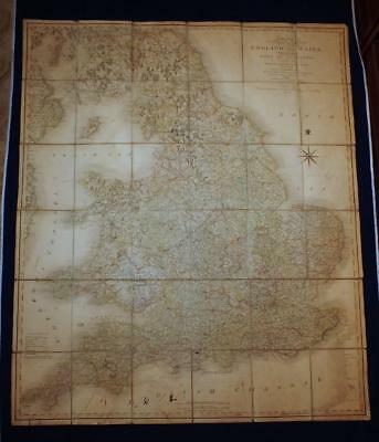 1806 SMITH'S NEW MAP of ENGLAND & WALES, SCOTLAND, TRANSPORT, CANALS, ROADS