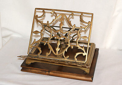 Vintage Solid Brass Book Bible Stand