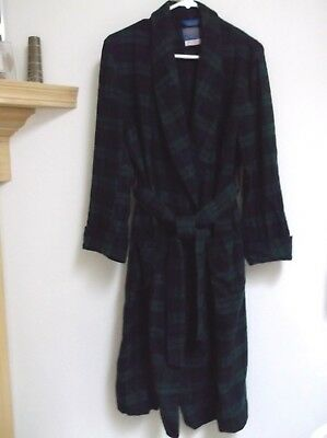 Pendleton Black Watch Tartan Authentic Robe 100% Wool Sz Mens Med No Flaws Nice!