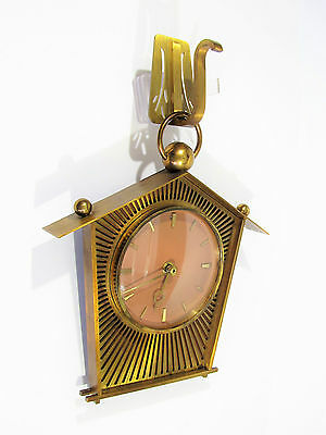 alte 60's Wanduhr messing