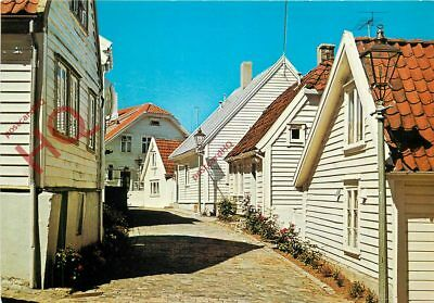 Picture Postcard; Norway, Stavanger, Street View Of The Old Town