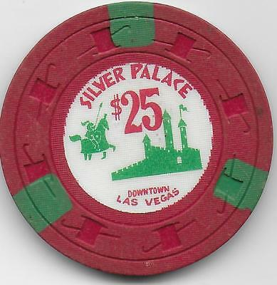 $25 Casino Chip From The Famous SILVER PALACE-Las Vegas, Nv. N2168-Closed 1964