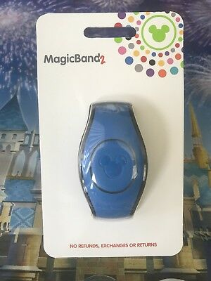 NEW 2018 Disney Parks BLUE Magic Band 2 2.0 Link It Later MAGICBAND Linkable