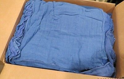 300 Blue Huck Towels Jumbo Case Cleaning Shop Cloth Lint Free Surgical