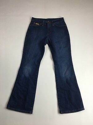 WRANGLER 'CURVED BODY FLARE' Jeans - W28 L30 - Dark Navy - Great Condition