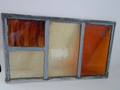 """Vintage Stained Glass Window Panel From Old Church  8 3/8""""  x 14 3/8 """"   #7 of 8"""