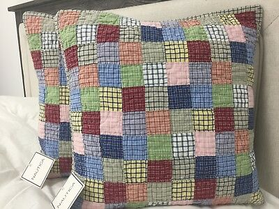 NAUTICA TATTERSALL QUILTED Decorative Throw Pillow Cover Sham 40x40 Inspiration Nautica Pillow Covers