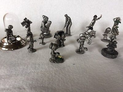 Hudson, Hallmark, and various other makers. Pewter Figurines, a lot of 13