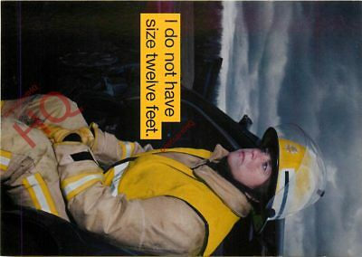 Picture Postcard; WOMAN FIREFIGHTER, I DO NOT HAVE SIZE TWELVE FEET