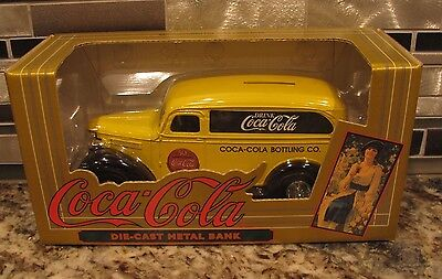 Ertl 1995 Coca Cola Chevy Panel Diecast Metal Bank - New In The Box