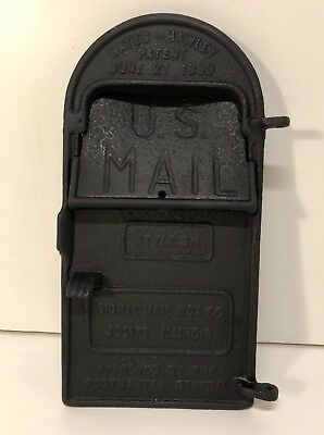Vintage Cast Iron U.s. Mail Box Door Mail Slot Embossed Signal Mailbox Co. Usa
