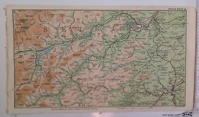Selkirk, Hawick, Borders, Scotland, 1887 Antique Map, Original Bartholomew Atlas
