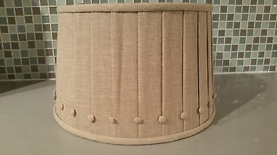 Beige Natural Pleated Linen Drum Lamp Shade W Ons Illumination Station