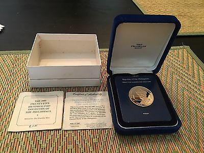 Philippines 1980 2500-Piso Macarthur Proof Commemorative Gold Coin W/ Papers