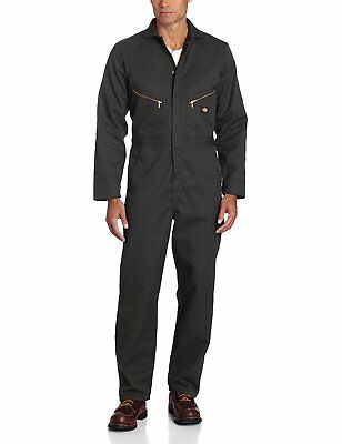 Dickies Mens Deluxe Long Sleeve Blended Coverall, Olive Green, Large/Regular