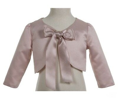 3/4 Sleeves Satin Flower Girl Bolero Girl Jacket Cape Shrug Dress Cover Up New