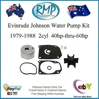 A New Evinrude Johnson Water Pump Kit Suits 1979-1988 40hp-thru-60hp R 439077 K