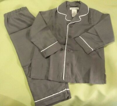Pottery Barn Kids Solid Gray 2 pc.  Pajamas  Size  3T New With Tags