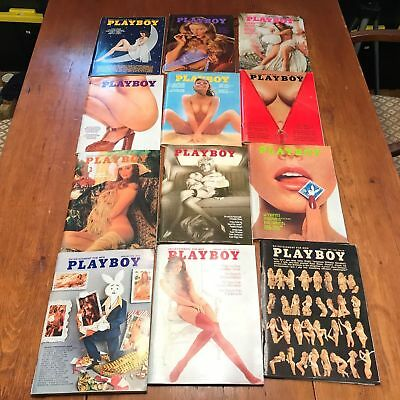 PLAYBOY 1973 COMPLETE YEAR  12 Issues  VG condition