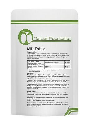Milk Thistle 3500mg Tablets Liver Detox, Gall Bladder Function, Hang Over Cure