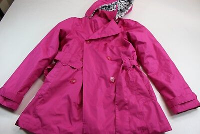 46471cac70904 GIRL'S London Fog Fuschia Pink Outer Coat Jacket With Cell Phone Pocket Sz  14