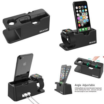 Beacoo 2-In-1 Charging Stand And Cradle Holder For Iphones &Amp; Apple Watch - B