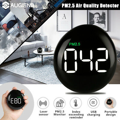 AUGIENB LED USB Laser Sensor Air Quality Monitor PM2.5 Air Detector Home Office