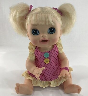 Baby Alive Doll 2012 Bilingual Spanish English Blonde Hair Blue Eyes